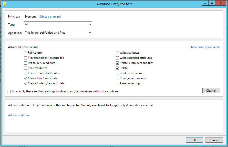Security audit policies make finding the infected workstations much easier.
