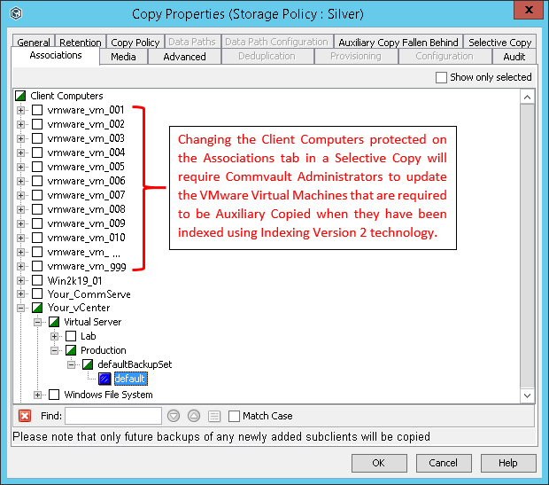 Indexing Version 2 for VMware with Commvault – Perfekt